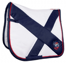 HKM PRO TEAM COUNTY  SADDLE PAD -WHITE   - RRP £36.99